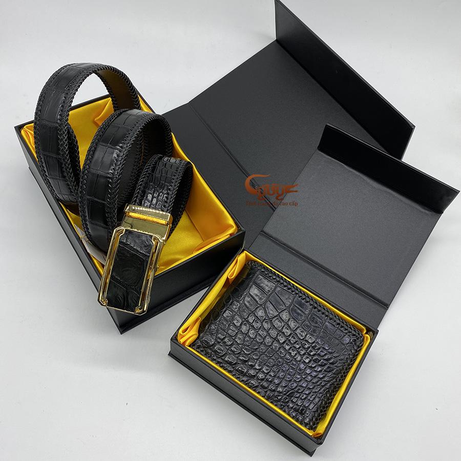 Bộ sản phẩm ví dây nịt handmade - 1