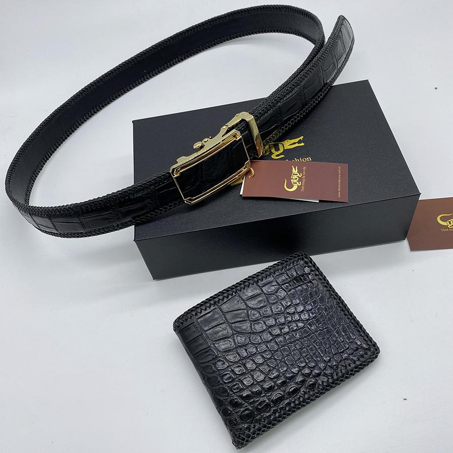 Bộ sản phẩm ví dây nịt handmade - 3