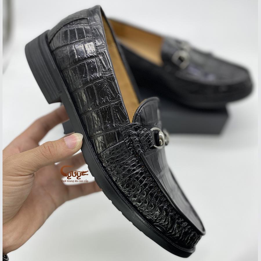 Giày lười da cá sấu đế cao gcglt - 5