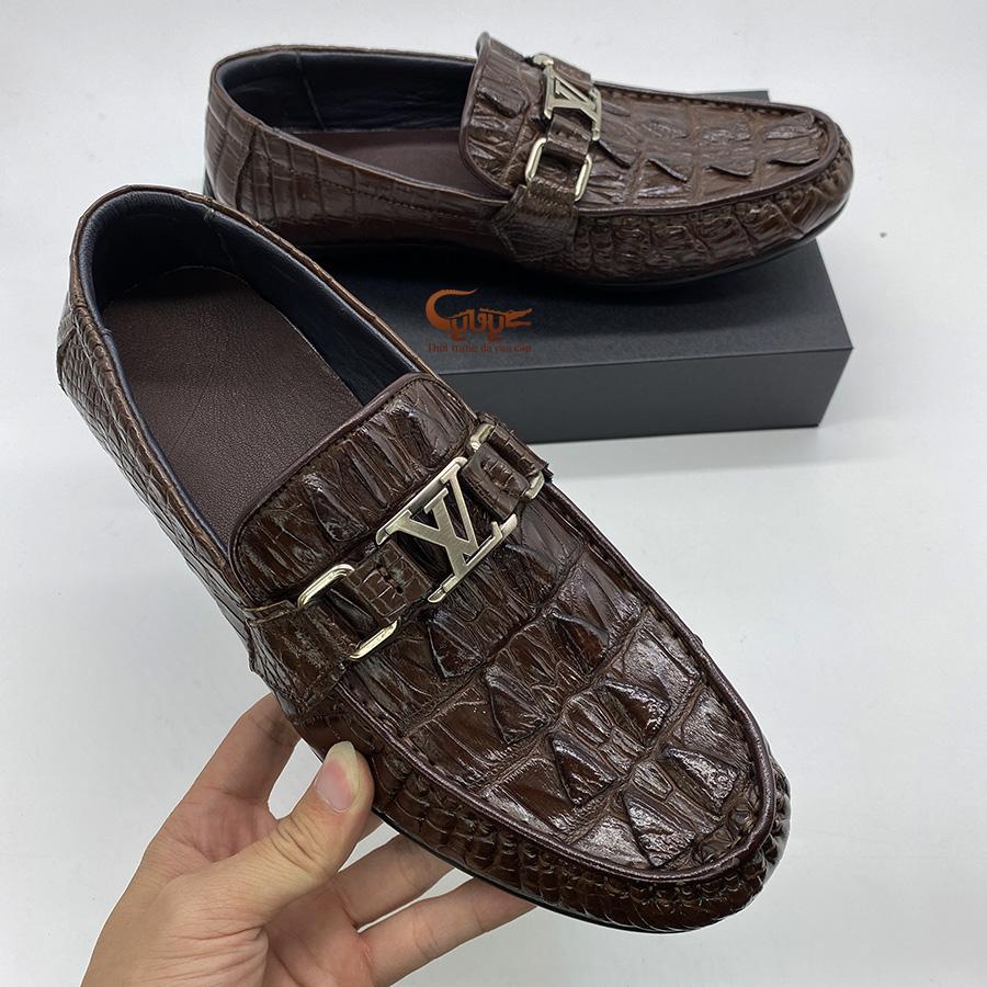 Giày lười da đuôi cá sấu gclvd - 2