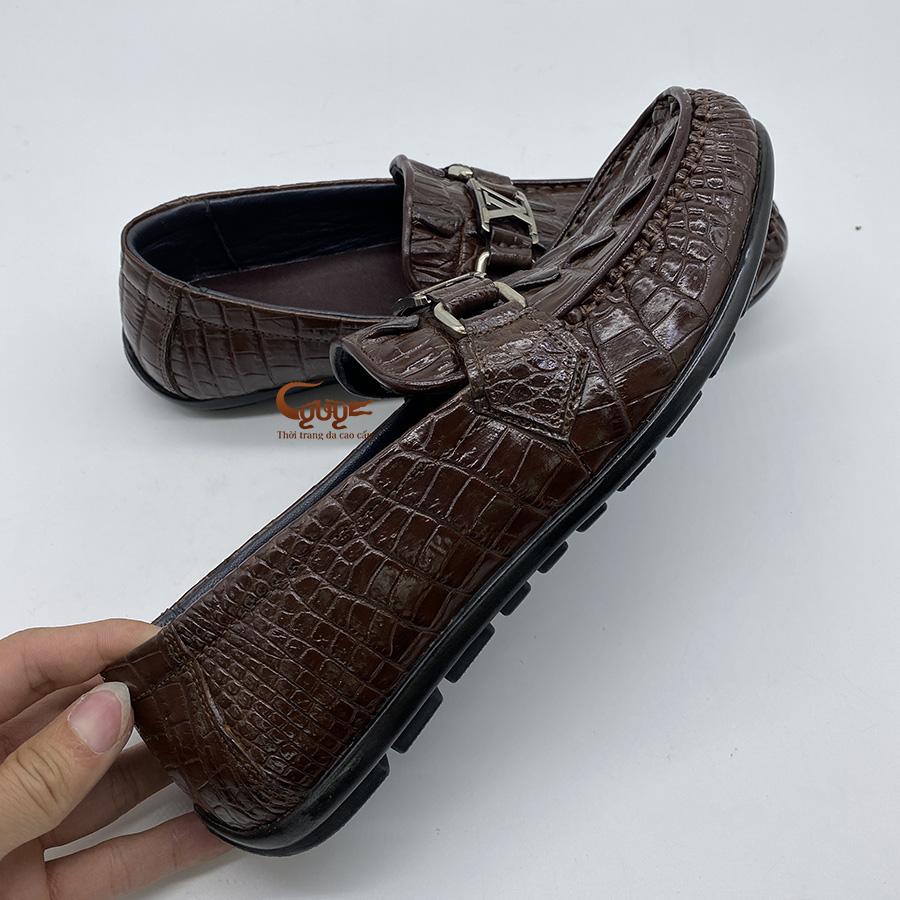 Giày lười da đuôi cá sấu gclvd - 4