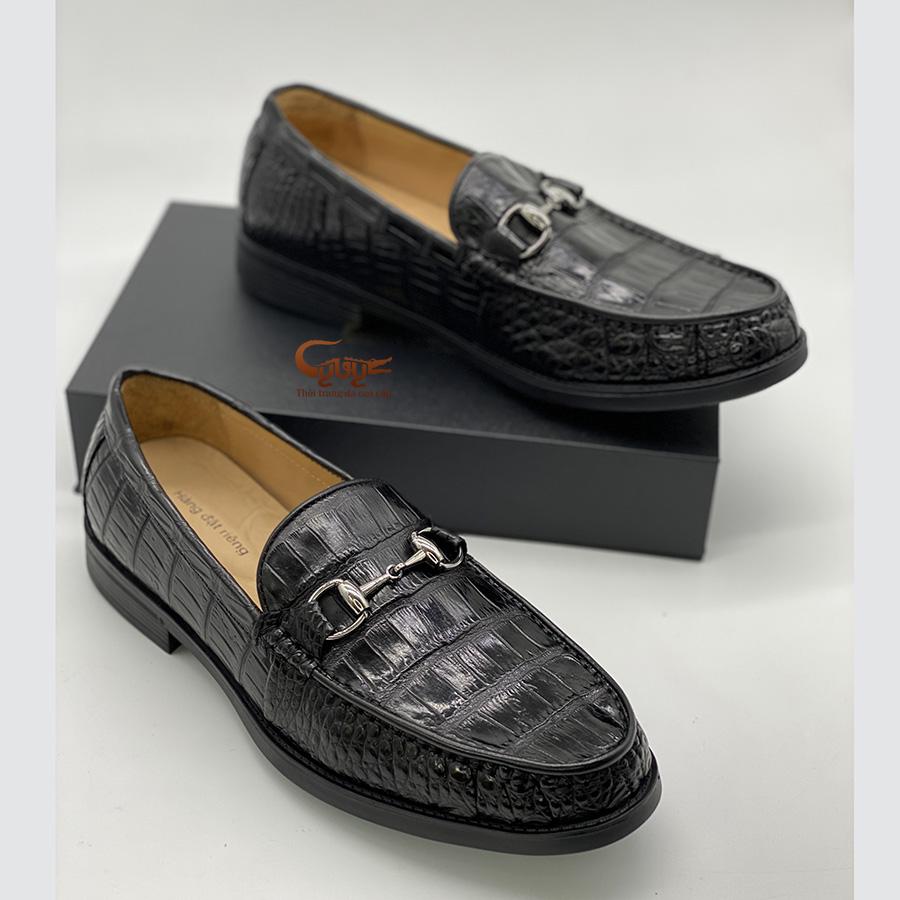 Giày lười da cá sấu đế cao gcglt - 1