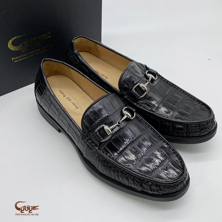 Giày lười da cá sấu đế cao gcglt - 2