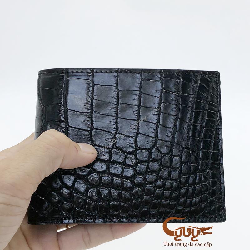 Ví da cá sấu da bụng màu đen - VCF19520C1