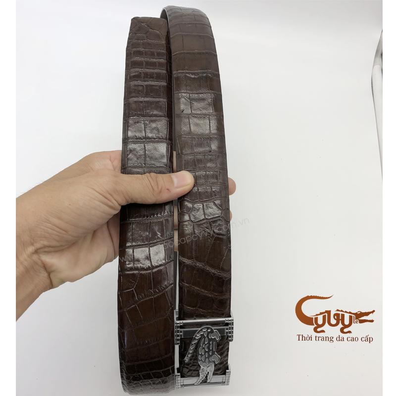 Thắt lưng da cá sấu bản 4.0 cm