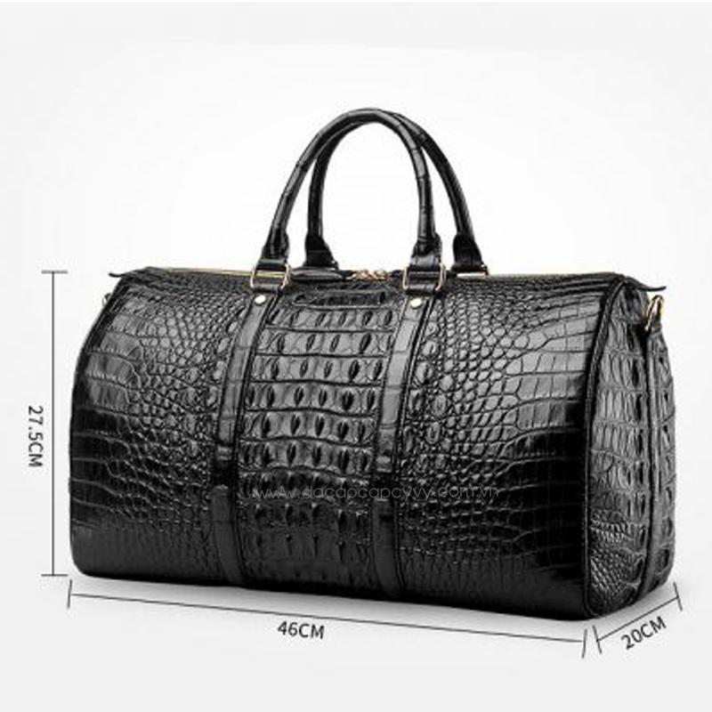 Túi xách du lịch da cá sấu hàng hiệu