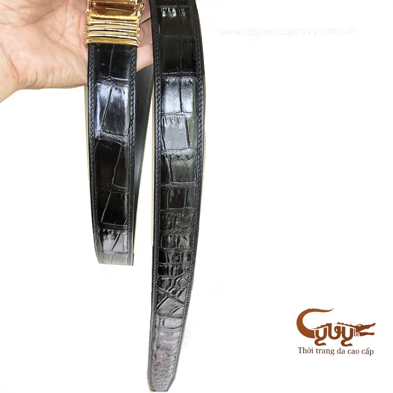 Thắt lưng da cá sấu cao cấp bản 3.5 cm - mã TCLA351SP6