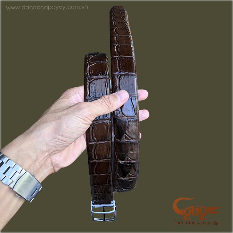 Thắt lưng da cá sấu gai đuôi - TC35GIM