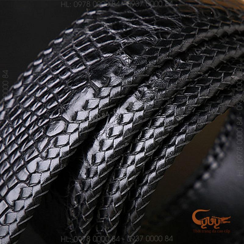 Thắt lưng da cá sấu handmade - TCD401