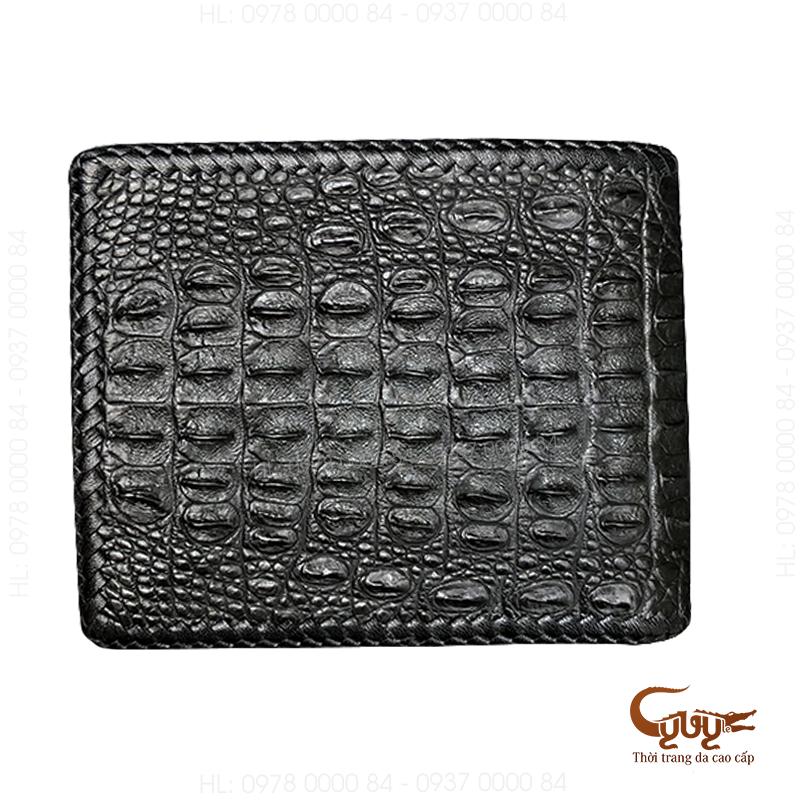 Ví da cá sấu đan viền - VCFL95120HM