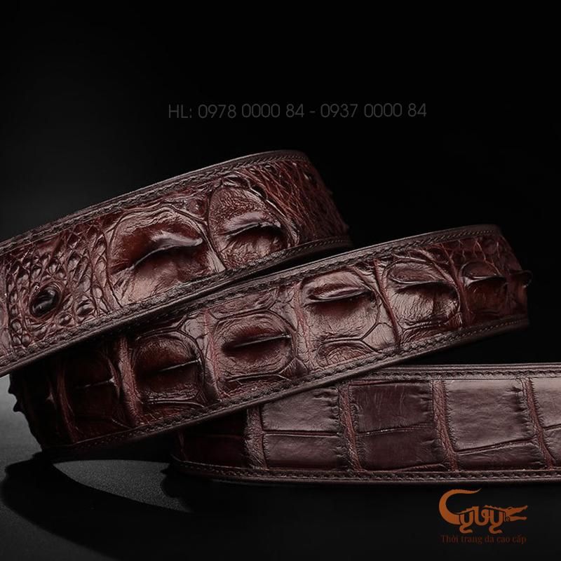 Dây nịt da cá sấu hàng hiệu cao cấp - TCFLL40S2