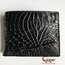 Ví da chân cá sấu màu đen - VCF195120C