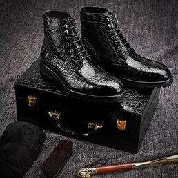 Giày boots da cá sấu cao cấp