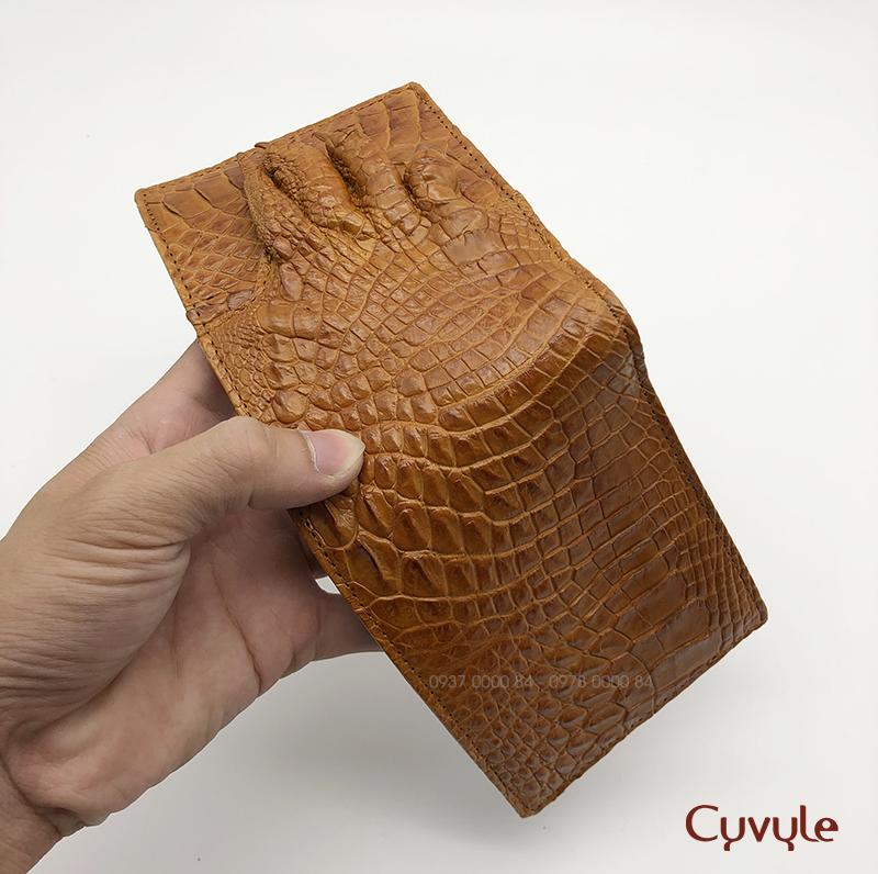 Bóp da bàn chân cá sấu cao cấp VCJ95124
