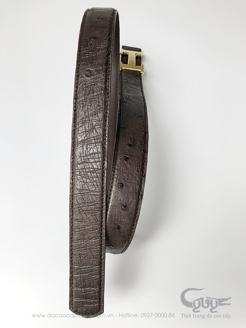 Thắt lưng da đà điểu bản 3.2 cm