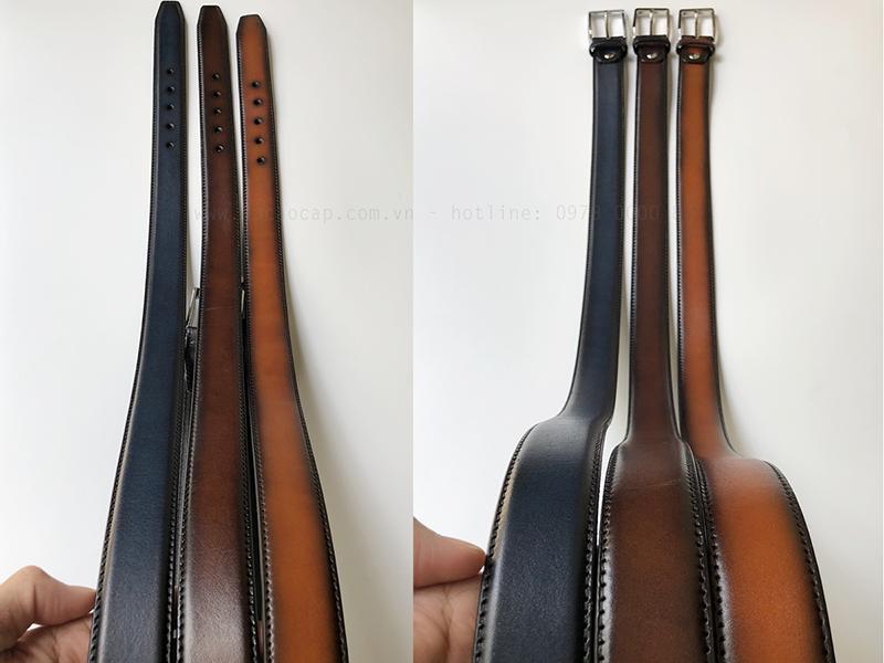Thắt lưng da bò veg - patina