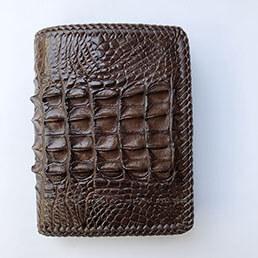 Ví da cá sấu đan viền thủ công VCL952IHM