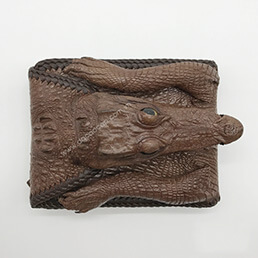 Ví da cá sấu nguyên con có đầu