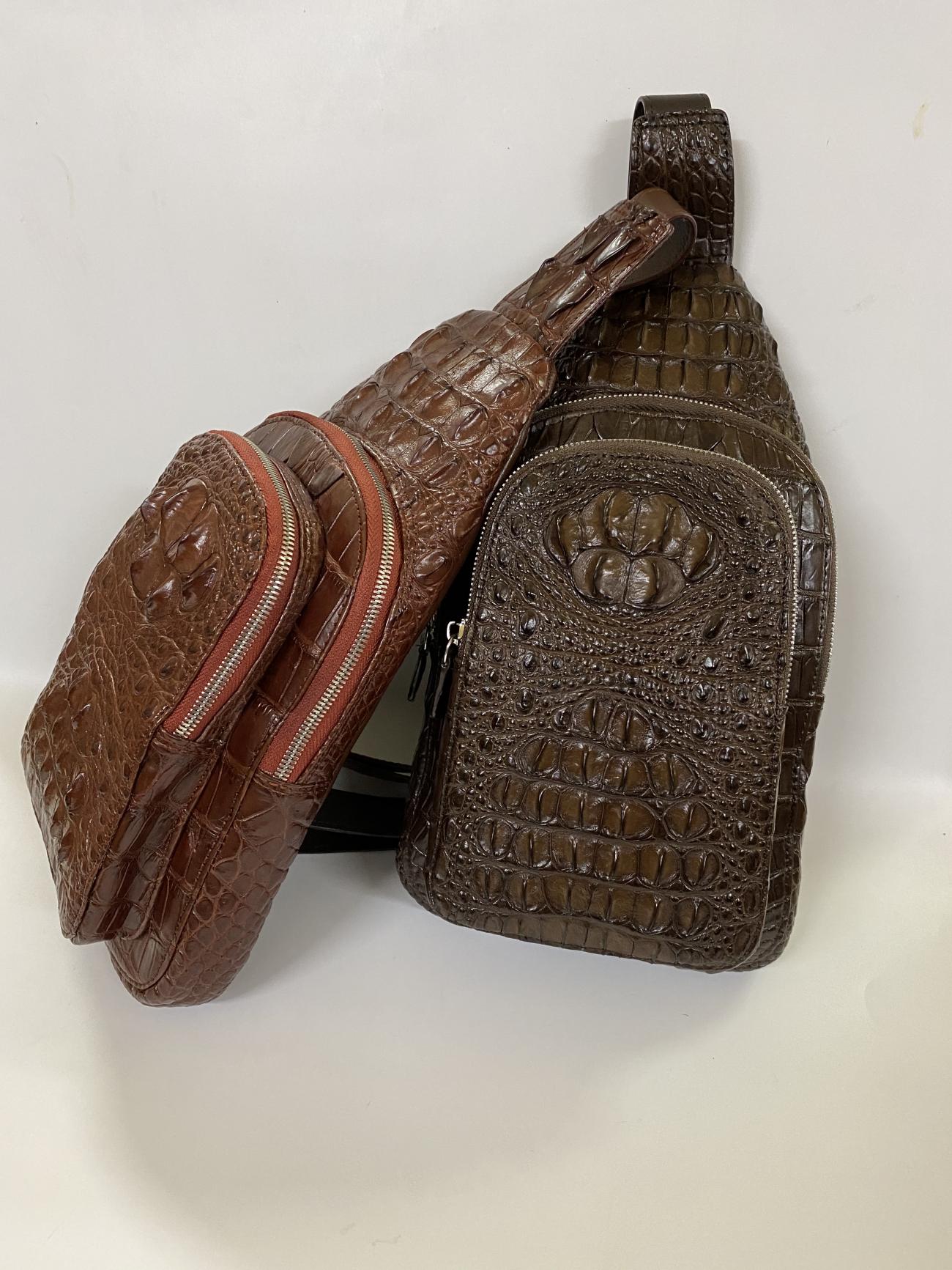 Túi đeo chéo da cá sấu nguyên con cao cấp TC331807