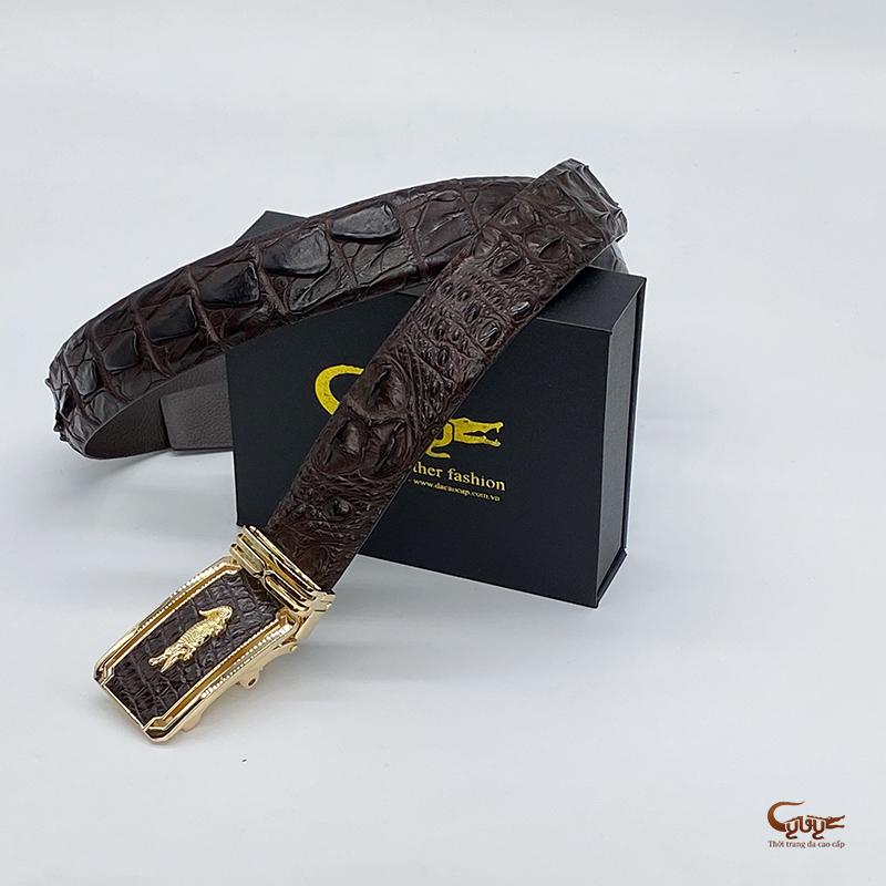 Thắt lưng da cá sấu bản 3.4 cm - TC35V