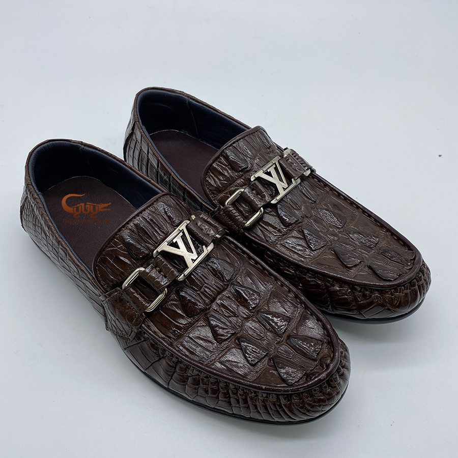 Giày lười da đuôi cá sấu GC.LVD