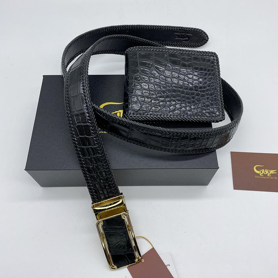 Bộ sản phẩm ví dây nịt handmade
