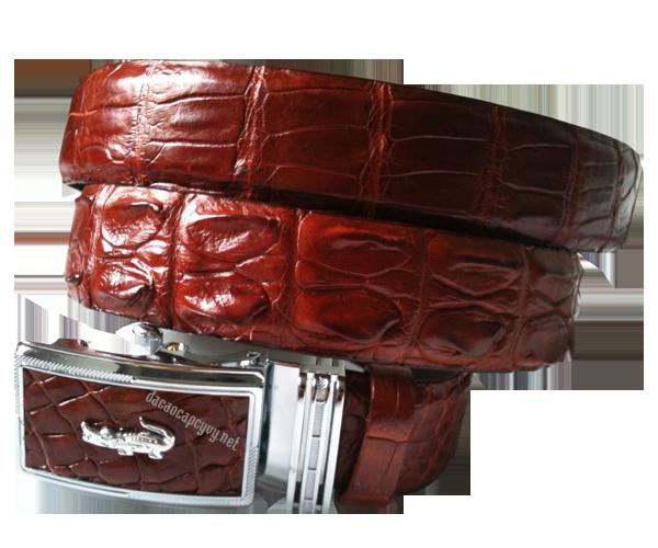 Dây nịt cá sấu nâu đỏ