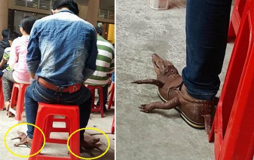 Chàng trai đi giày cá sấu nguyên con giá chục triệu gây tranh cãi - 1