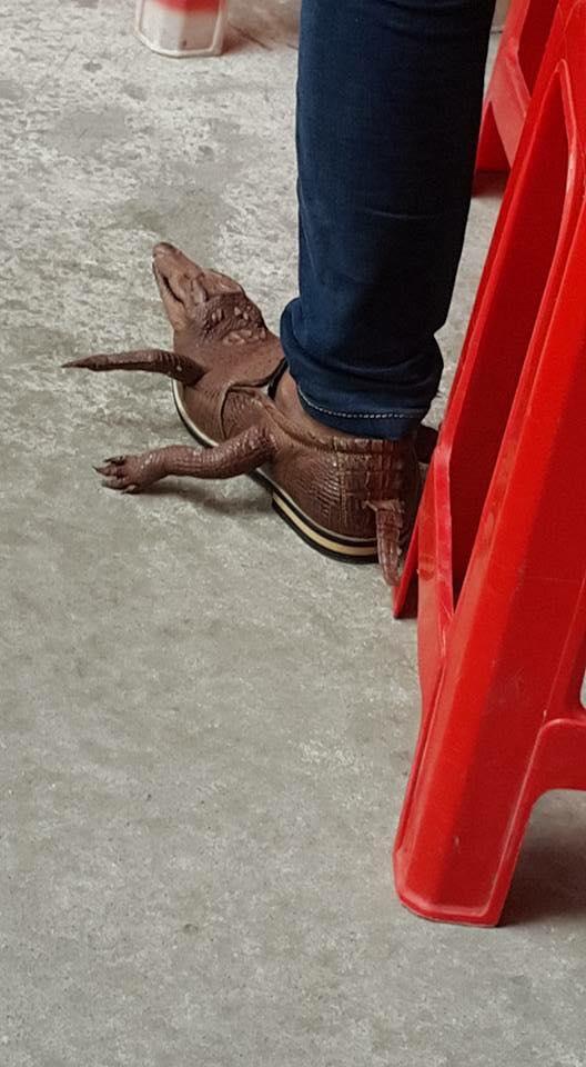 Chàng trai đi giày cá sấu nguyên con giá chục triệu gây tranh cãi - 3