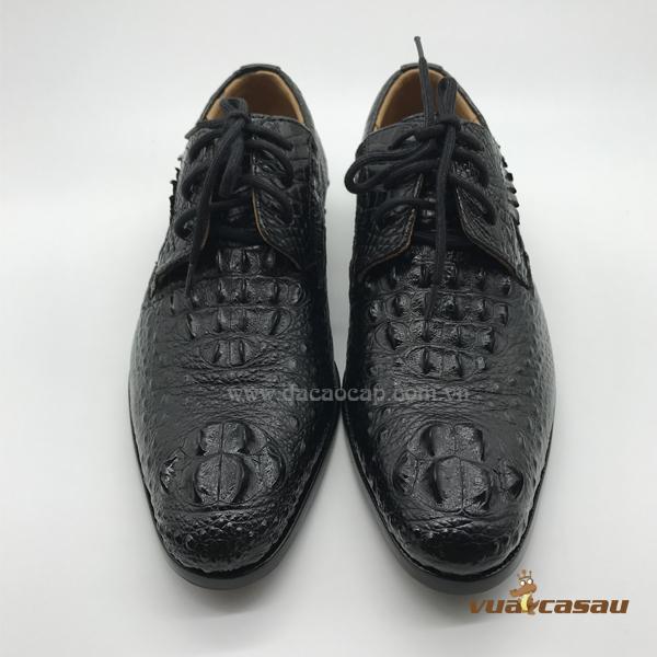 Giày da cá sấu nguyên con màu đen - 6