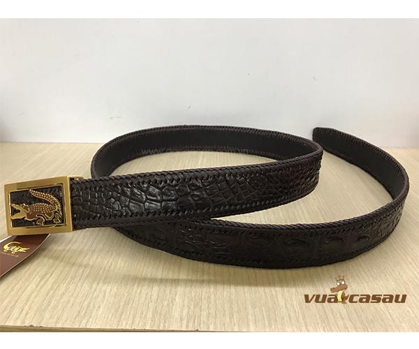 Thắt lưng da cá sấu đan viền bản 35 cm - 1