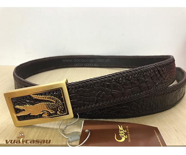 Thắt lưng da cá sấu đan viền bản 35 cm - 4