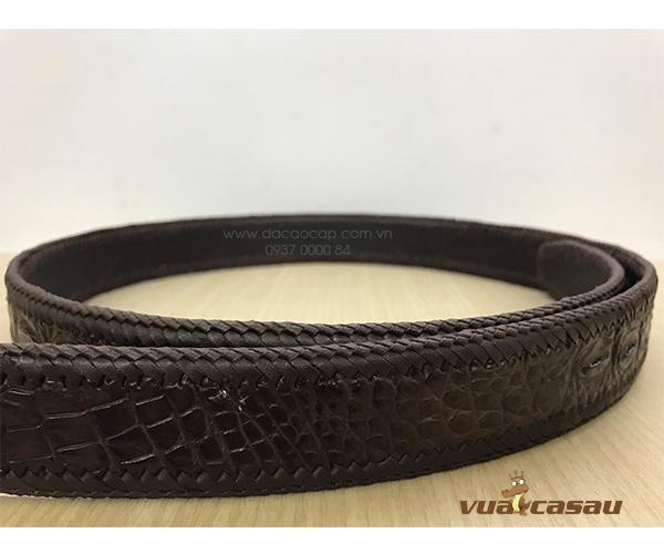 Thắt lưng da cá sấu đan viền bản 35 cm - 5