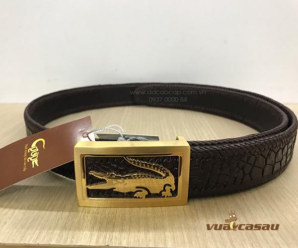 Thắt lưng da cá sấu đan viền bản 35 cm - 6