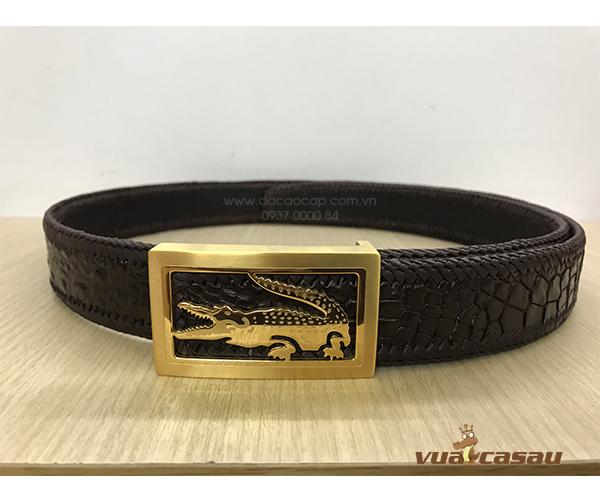 Thắt lưng da cá sấu đan viền bản 35 cm - 7