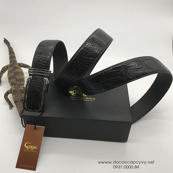 thắt lưng da cá sấu bản 4cm may viền - 1