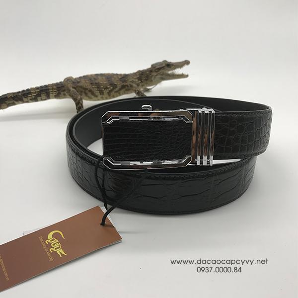 thắt lưng da cá sấu bản 4cm may viền - 4
