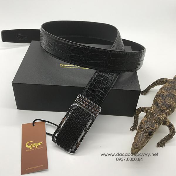 thắt lưng da cá sấu bản 4cm may viền - 5