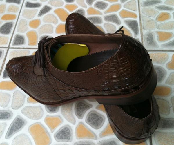 Giày da cá sâu nguyên con mau nâu đât - 4