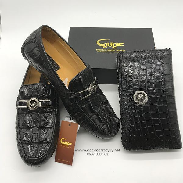 giày nam da cá sấu cao cấp - 5