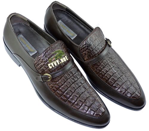Giày phối da cá sấu mau đen - 2