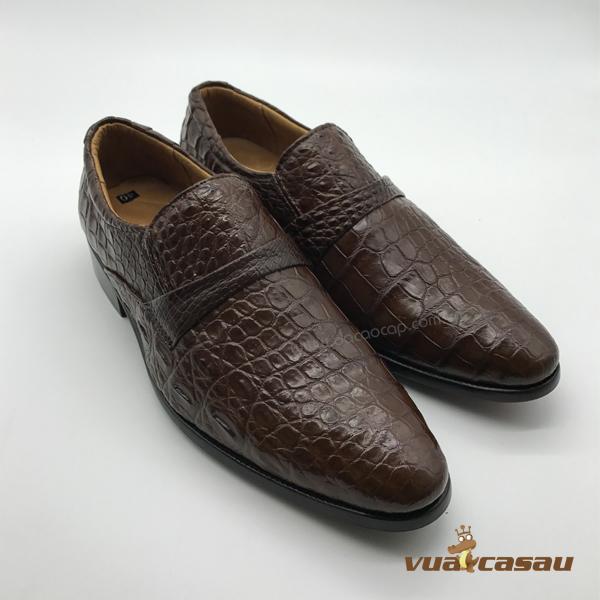 Giày da cá sấu màu nâu đất da hông - 2