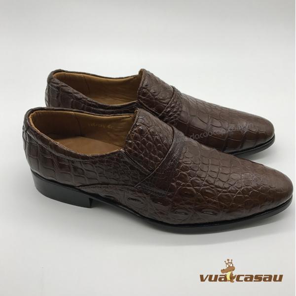 Giày da cá sấu màu nâu đất da hông - 3