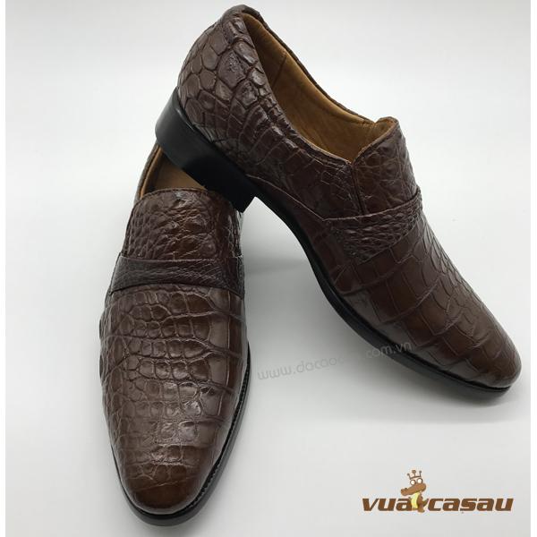 Giày da cá sấu màu nâu đất da hông - 4