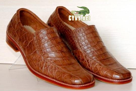 Giày da cá sấu trơn - 1