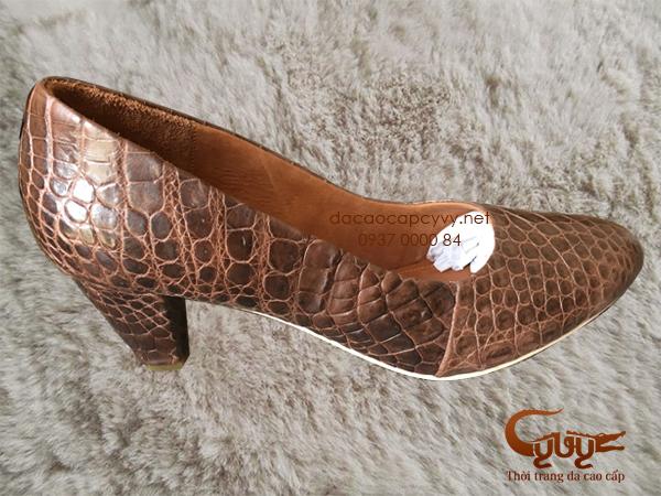 Bán giày nữ da cá sấu xịn đẹp nhất 2016 - 9
