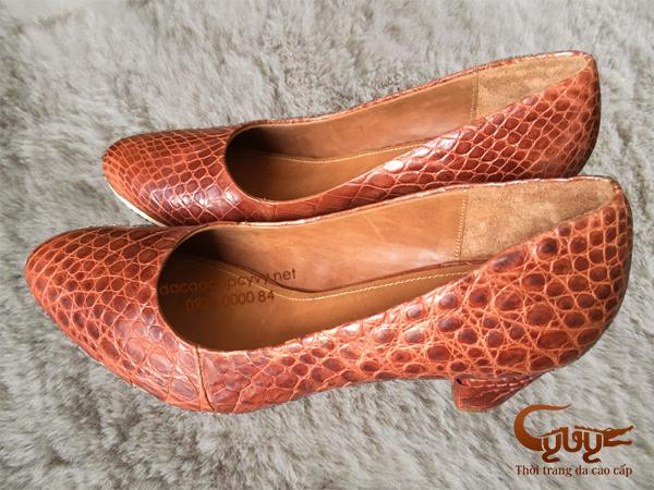 Bán giày nữ da cá sấu xịn đẹp nhất 2016 - 5