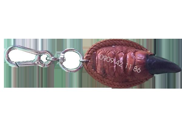 Móc khóa móng chân đà điểu