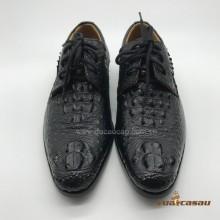 Giày da cá sấu nguyên con màu đen