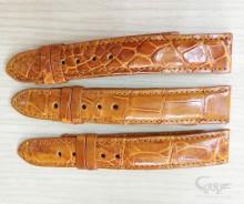 Dây đeo đồng hồ da cá sấu màu nâu đỏ